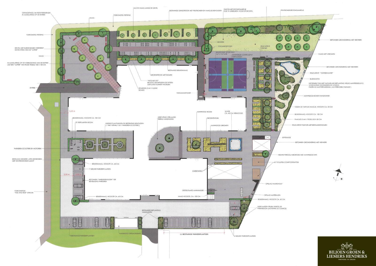Schoolplein architectuur